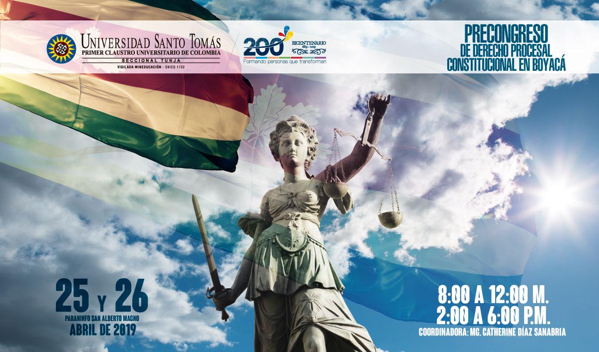 Precongress of Constitutional Procedural Law in Boyacá