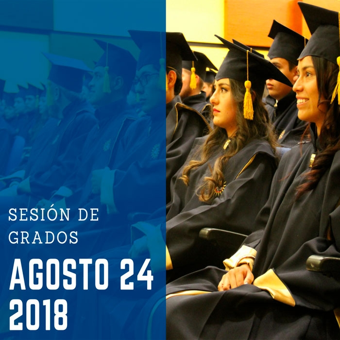 Sesión de grados 24 de Agosto de 2018  -  Lista de Graduandos