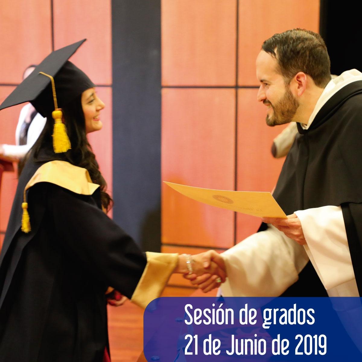 Sesión de grados 21 de Junio de 2019  -  Lista de Graduandos