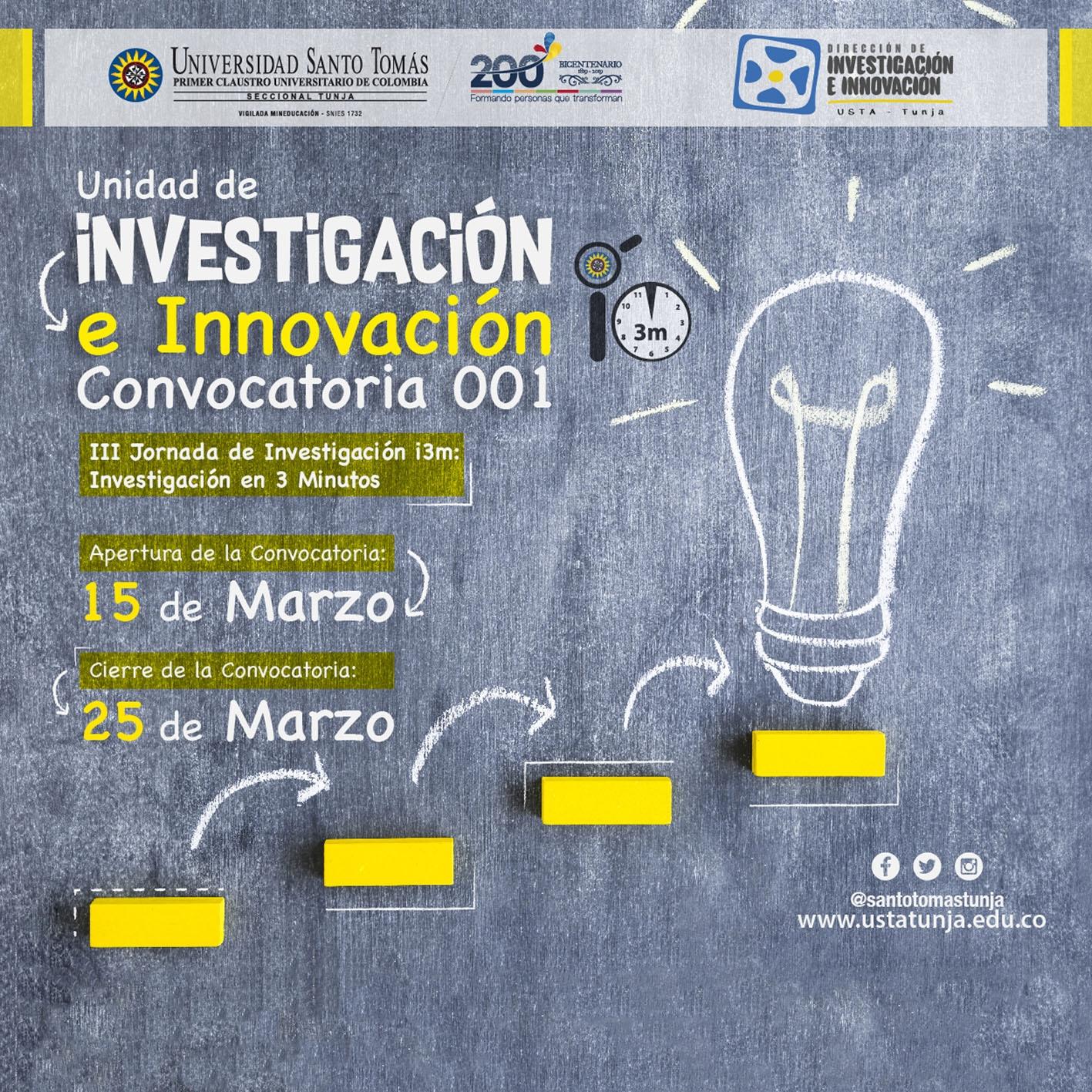 III Jornada de Investigación i3m: Investigación en 3 Minutos