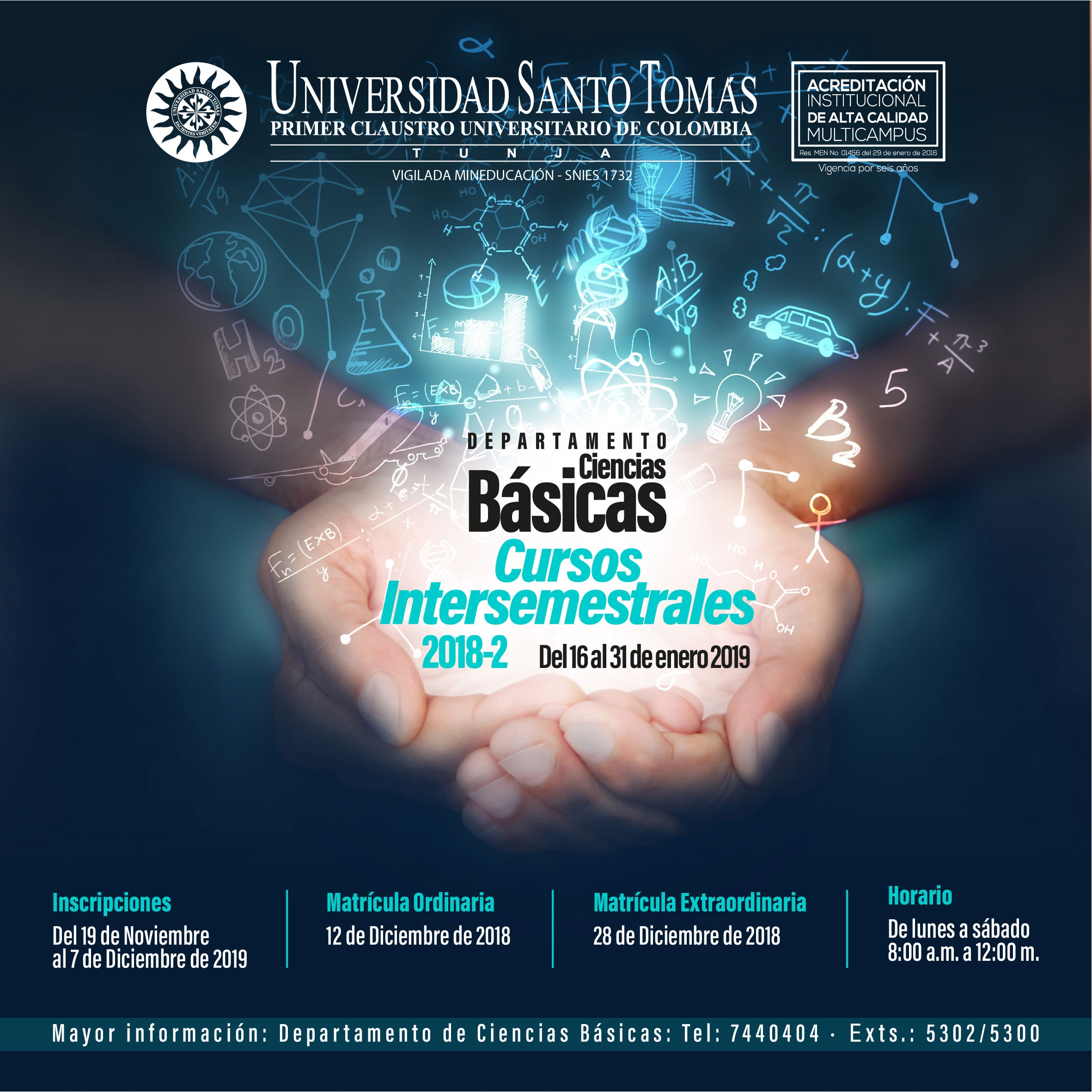 Intersemestral Courses Basic Sciences 2018 - 2